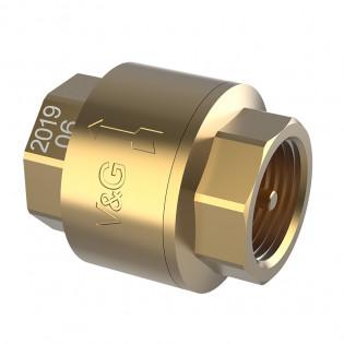 Зворотній клапан внутрішня різьба V&G з латунним штоком