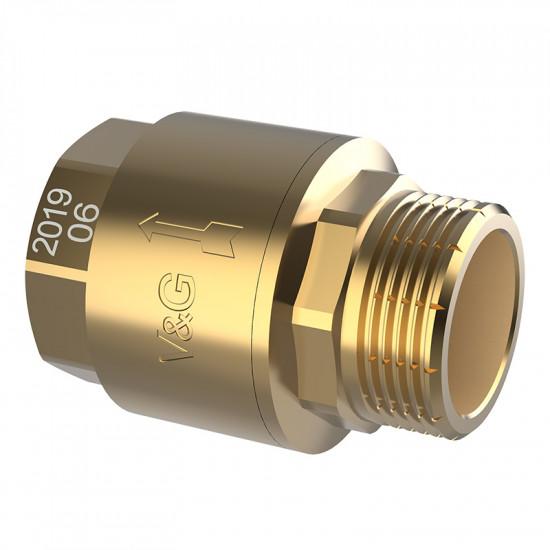 Клапан зворотний ВЗ V&G з латунним штоком